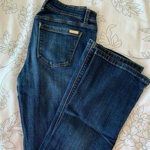 White House Black Market Boot cut dark jeans